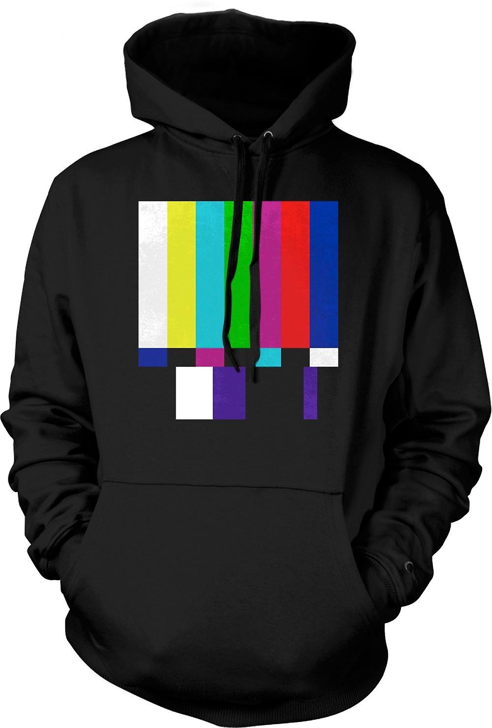 Black Sheep Clothing Mens Hoodie - TV Technical Screen 80s Retro Large