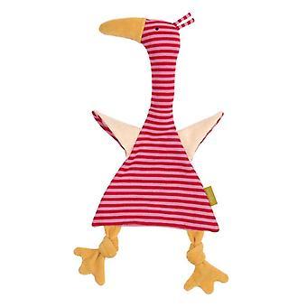 Sigikid Cuddle cloth Goose Pink Green