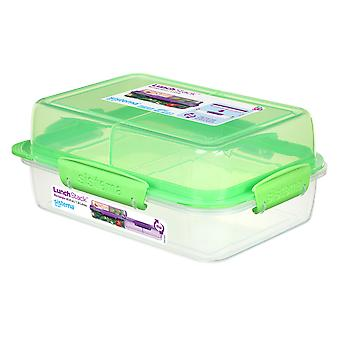 Sistema Rectangular Lunch Stack 1.8L, Lime Green