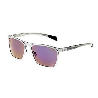 Rasse-Steinbock-Titanium polarisiert Sonnenbrille - Silber/lila-blau