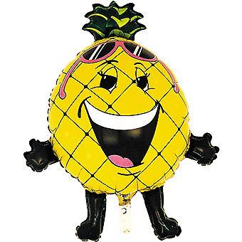 Oaktree 32 Inch Pineapple Shaped Foil Party Balloon