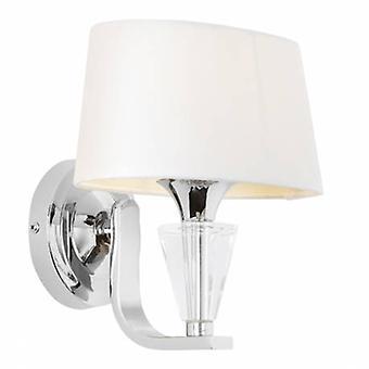 1 licht indoor muur licht chroom, witte TC stof