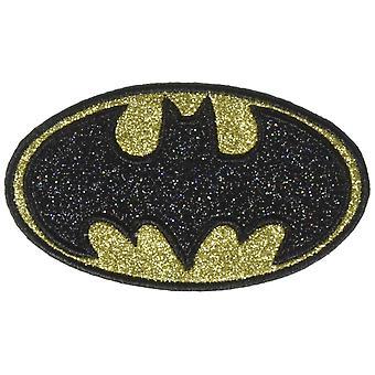 Patch - DC Comics - Batman Logo Glitter Black Iron-On p-dc-0182-g