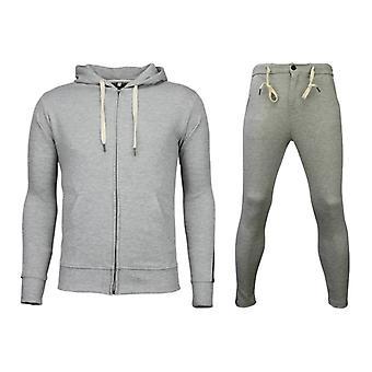 Tracksuits Basic-Side Lines Joggingpak-Grey