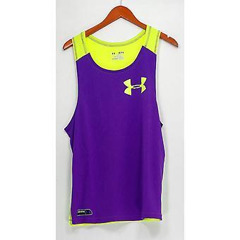 Heat Gear Activewear Tank Jersey Color Blocked Yellow / Purple