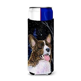 Starry Night Corgi Ultra Beverage Insulators for slim cans SS8387MUK