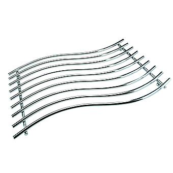 Apollo Chrome Trivet, Wave 40 x 28cm