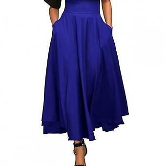 Utställd plisserad linje kjol med båge