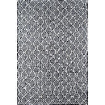 Andes hand woven charcoal 2'3