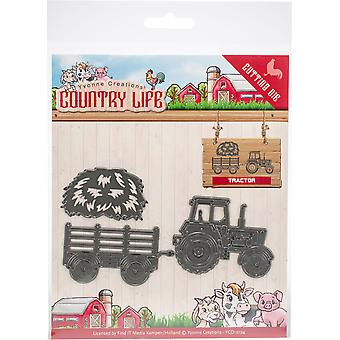 Encontrarlo operando Yvonne Creations Die-Tractor, Country Life