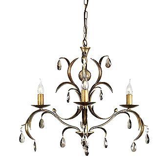 Elstead-lustre 3 lumière bronze métallisé finition-LL3 ANT BRZ