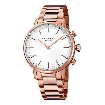 Kronaby S2446-1 Women's Carat Smartwatch Silver Tone Dial