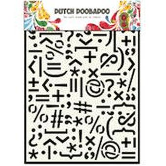 Dutch Doobadoo A5 Mask Art Stencil - Punctuation Marks #715046