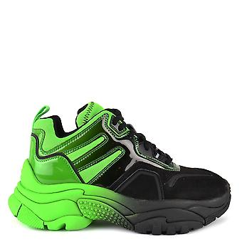 Ash ACTIVE Trainers Green And Black Mesh