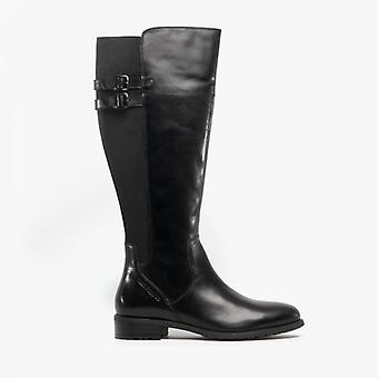 Hush Puppies Arla Ladies Leather Tall Boots Black