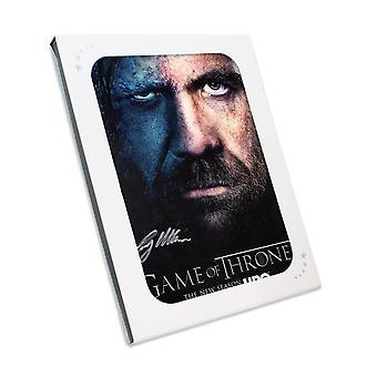 Sandor Clegane signeret spil af troner plakat i gaveæske