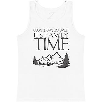 Countdown Is Over It's Family Time - Matching Set - Baby Vest, Dad & Mum Vest