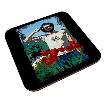 TV Times Comedian Kenny Everett Saluting In A Flowerbed Coaster