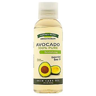 Nature's truth cold pressed skin care base oil, avocado, 4 oz