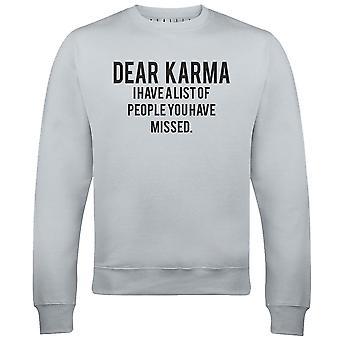 Cher sweat-shirt karma mens