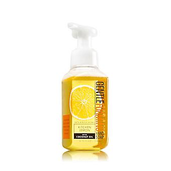Bath & Body Works Kitchen Lemon Gentle Foaming Hand Soap With Coconut Oil 6.7 fl oz / 239 ml ( 2 Lot )