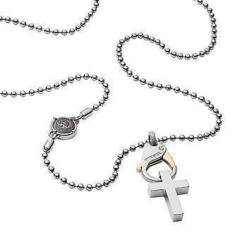 Krage og anheng diesel juveler PILLAR DX1149040-krage og anheng sølv Steel HOMME