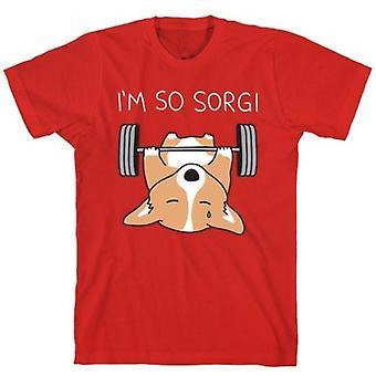 I'm so sorgi corgi red t-shirt