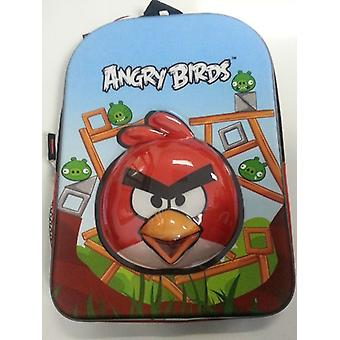 Mochila - Angry Birds - 3D Red Bird Face/Head Large School Bag New 048710