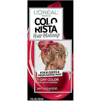 L'Oréal Paris Colorista Hair Makeup 1-Day Hair Color, Rosa Caliente 300, 1.0 fl oz