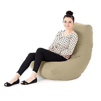 Crème Faux Cuir Adulte Bean Bag Gaming Chair Gamer Beanbag Highback Large XXL