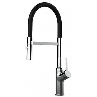 Single-lever Kitchen Sink Mixer met zwarte tuit en 2 Jets Douche - 517