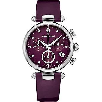 Claude Bernard - Wristwatch - Women - Dress code Chronograph - 10215 3 VIODN