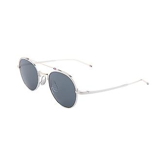 Thom Browne TBS912 02 Silver-White Gold/Dark Grey Sunglasses
