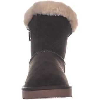 Style & Co. Womens tiny fur bootie Suede Closed Toe Mid-Calf Cold Weather Boots