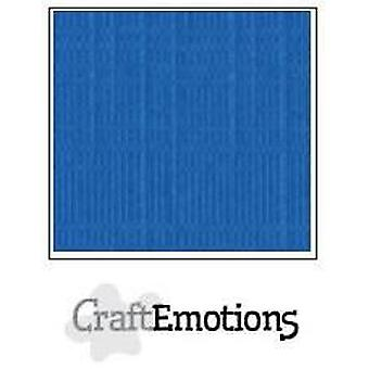 CraftEmotions linen cardboard 10 Sh signal blue 30,0x30,0cm / LC-15
