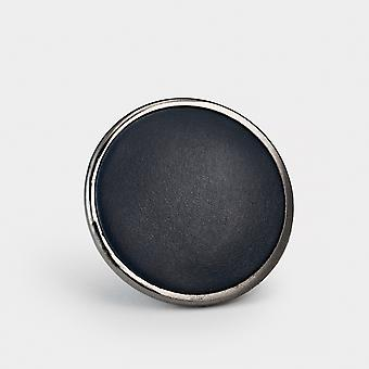 Metal Door Knob - Blue Leather