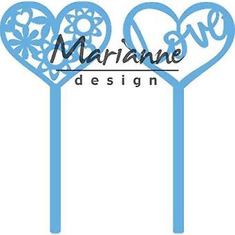 Marianne Design Creatables Schneide - Herz Stifte (Set von 2) LR0573 11x16 cm