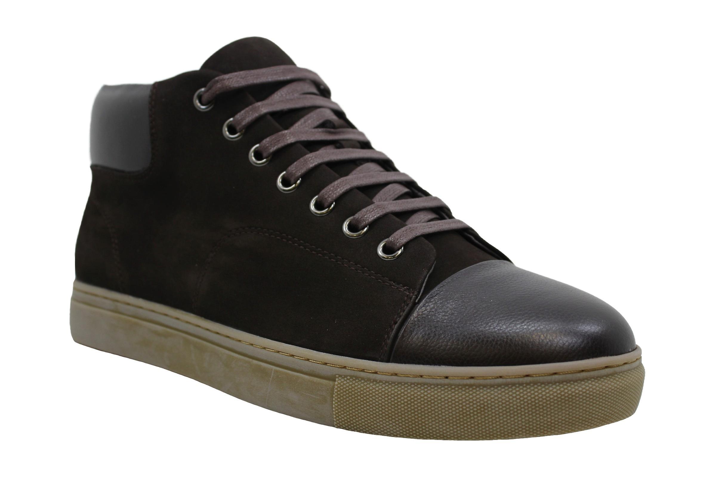 Englische Wäsche Herren Landseer Leder Low Top Lace Up Fashion Sneakers