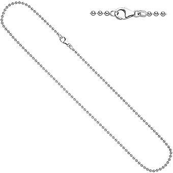 Damen Kugelkette 925 Silber 2,5 mm 50 cm Halskette Kette Silberkette Karabiner