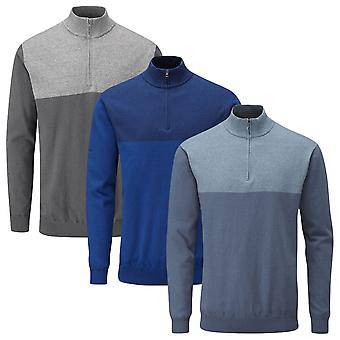 Ping Collection Mens Knight Lined Merino Mix Golf 1/4 Zip Sweater