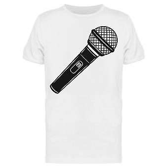 Microphone Icon Graphic Tee Men's -Image by Shutterstock