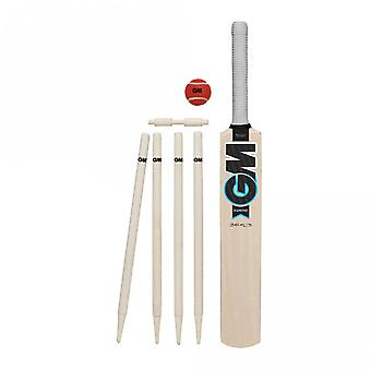 Gunn & Moore Diamond Kids Cricket Bat Stump Ball Set White/Blue