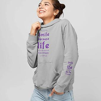 Unisex Premium Hoodie | Smile Because Life is Too Short to Be Unhappy
