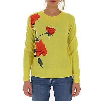 Dries Van Noten 112438714201 Feminino'suéter de lã amarela