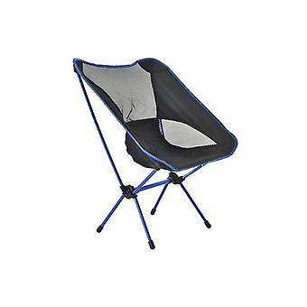 Butterfly Chair Folding Camping Fishing Portable Outdoor Black Blue