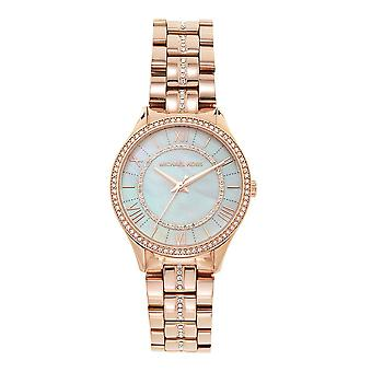 Michael Kors Mk3716 Lauryn Rose Gold & Silver Dial Ladies Stainless Steel Watch