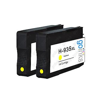 2 Gulkompatibla HP 935Y -bläckpatroner (HP935XL)