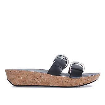 Naiset's Fit Flop Duo Solki Slide Sandaalit musta
