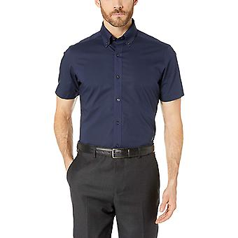 BUTTONED DOWN Men's Tailored Fit Stretch Bouton-Collar Short-Sleeve Non-Iron ...