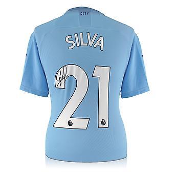 ديفيد سيلفا يتعاقد مع مانشستر سيتي 2019-20 قميص المنزل